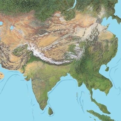 Map of Asia-Gary Gastrolab-Photographic Print