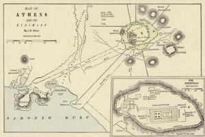 Map of Athens and its Vicinity; the Acropolis