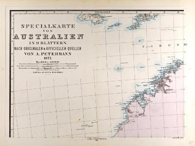 Map of Australia, 1872--Giclee Print