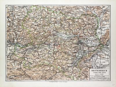 Map of Austria 1899--Giclee Print