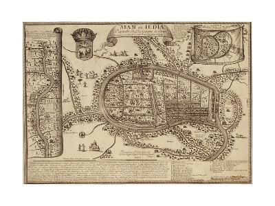 Map of Ayutthaya, 1686--Giclee Print