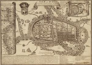 Map of Ayutthaya, 1686