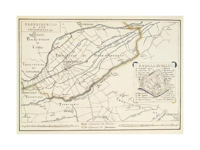 Map of Bagnocavallo, Province of Ravenna, Italy, 1850--Giclee Print