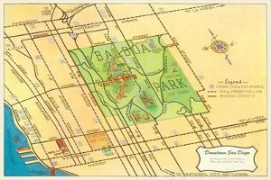 Beautiful Maps of San Diego, CA canvas artwork for sale ...