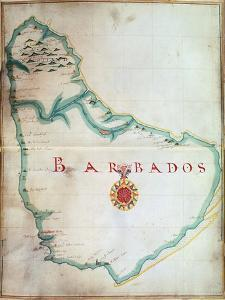 Map of Barbados, 1683