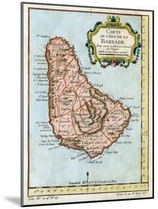 Map of Barbados, C1758