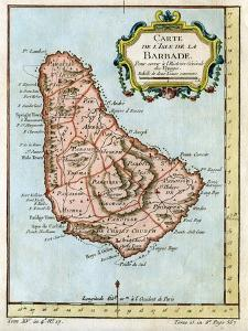 Map of Barbados, C1758