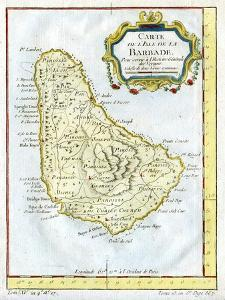 Map of Barbados, C1764