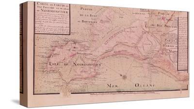 Map of Bas-Poitou and the Ile de Noirmoutier-Claude Masse-Stretched Canvas Print
