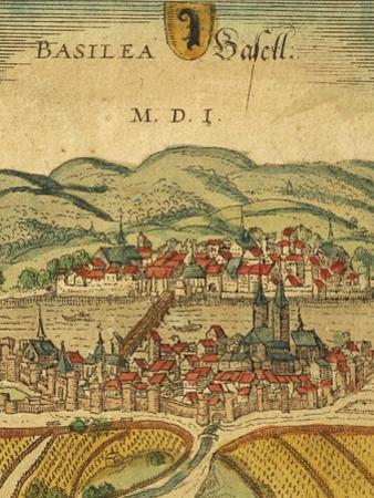 Map of Basel from Civitates Orbis Terrarum