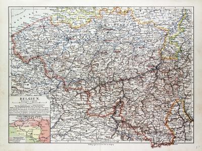 Map of Belgium 1899--Giclee Print