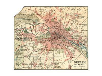 Map of Berlin (C. 1900), Maps-Encyclopaedia Britannica-Giclee Print