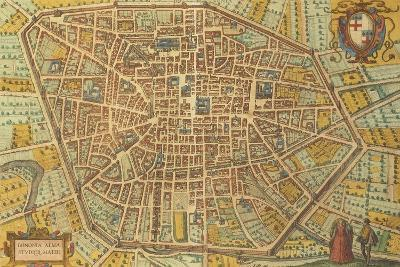 Map of Bologna from Civitates Orbis Terrarum--Giclee Print