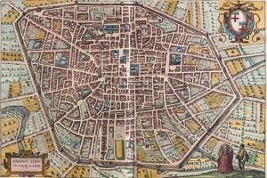 Map of Bologna from Civitates Orbis Terrarum