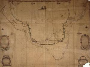 Map of Brazil, from 'Dutch Marine Maps', 1637