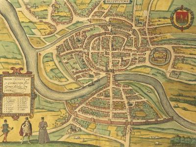 Map of Bristol from Civitates Orbis Terrarum--Giclee Print