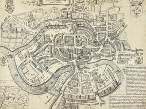 Map of Bristol, Great Britain and its Surroundings, 1671