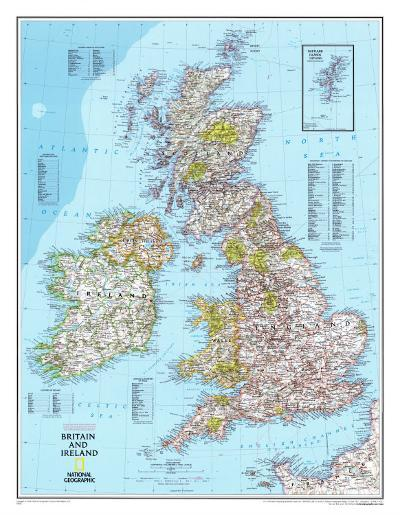 Map of Britain And Ireland--Poster