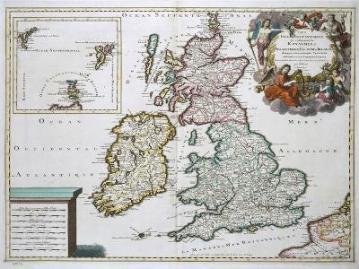 Map of Britain and Ireland-Gerard Valck-Giclee Print