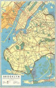 Map of Brooklyn, New York