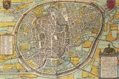 Map of Bruxelles from Civitates Orbis Terrarum--Giclee Print