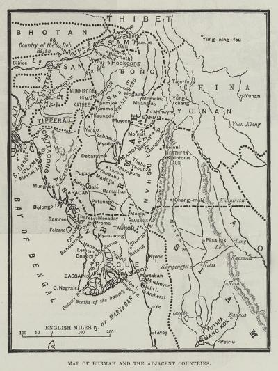 Map of Burmah and the Adjacent Countries--Giclee Print