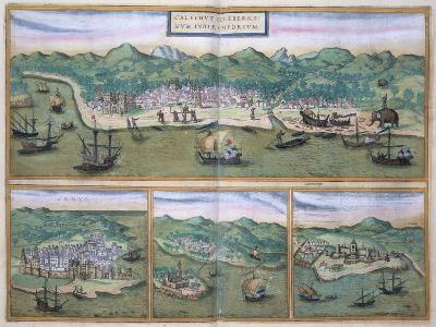 "Map of Calcutta, from ""Civitates Orbis Terrarum"" by Georg Braun and Frans Hogenberg, circa 1572-Joris Hoefnagel-Giclee Print"