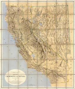 Map of California and Nevada, c.1874