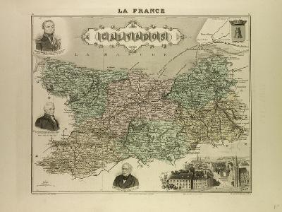 Map of Calvados 1896 France--Giclee Print