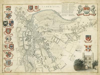 Map of Cambridge--Art Print
