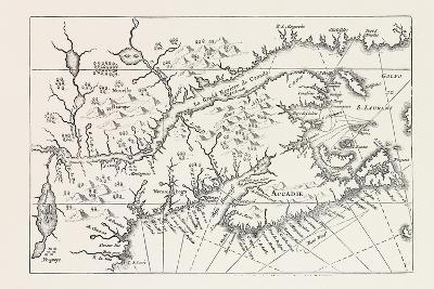 Map of Canada and Nova Scotia, from Joannes De Salt's America Utriusque Descriptio, 1633, 1870S--Giclee Print
