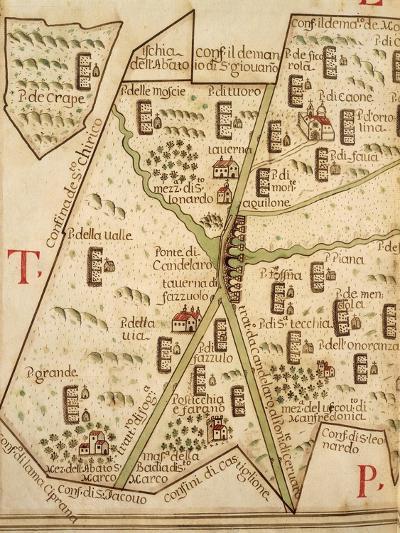 Map of Candelaro, Italy, from the Atlas Atlante Delle Locazioni, 1687-1697-Antonio and Nunzio Michele-Giclee Print