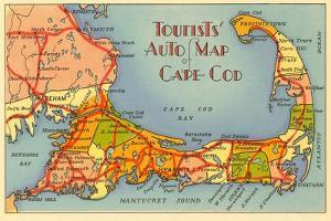 Map of Cape Cod, Massachusetts