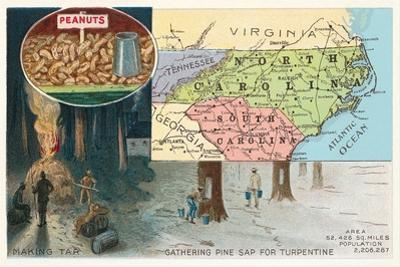 Map of Carolinas
