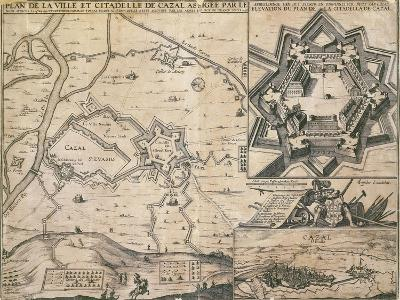 Map of Casale Monferrato, Piedmont Region, and its Citadel During the Siege in 1630--Giclee Print
