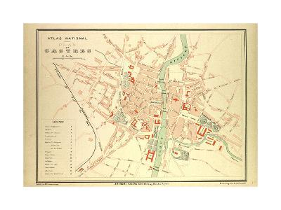 Map of Castres France--Giclee Print