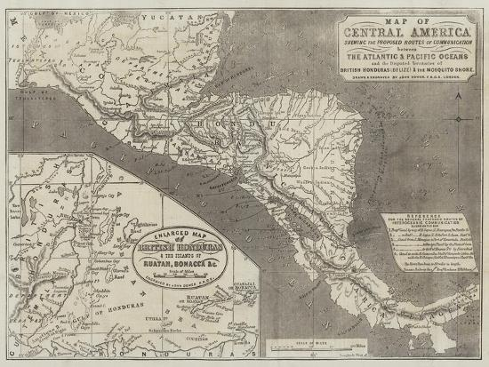 Map of Central America-John Dower-Giclee Print