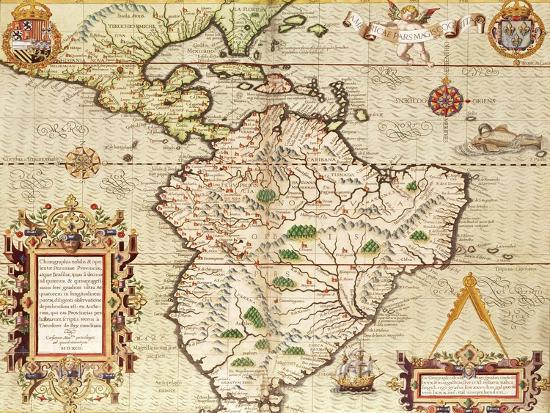 Map of Central and South America, from \