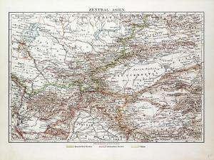 Map of Central Asia Afghanistan Pakistan Republic of Tajikistan Turkmenistan the Republic of Uzbeki