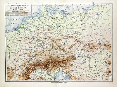 Map of Central Europe 1899--Giclee Print