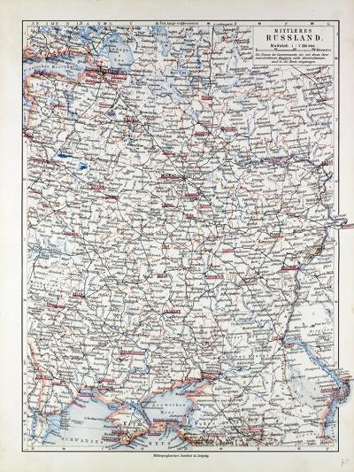 Map of Central Russia 1899--Giclee Print