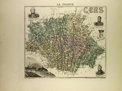 Map of Cers 1896, France--Giclee Print