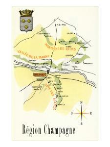 Map of Champagne Region of France