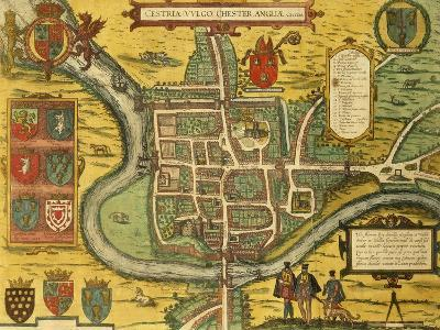 Map of Chester from Civitates Orbis Terrarum--Giclee Print