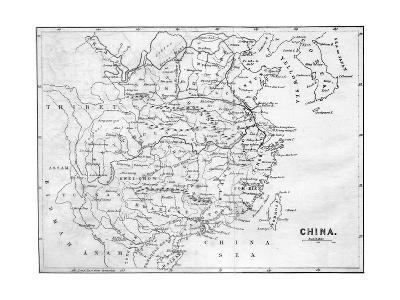 Map of China, 1847--Giclee Print