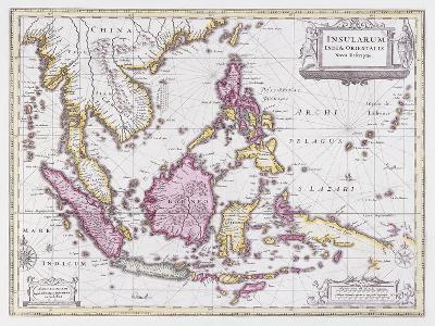 Map of China and Indonesia, C.1710-Schenk and Valk-Giclee Print