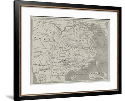 Map of China Showing the Position of the Provinces and Towns under Insurrection-John Dower-Framed Giclee Print