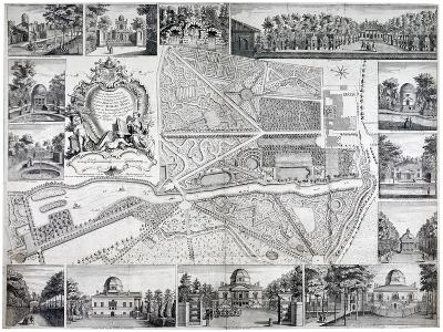 Map of Chiswick in the London Borough of Hounslow, 1736-John Rocque-Giclee Print