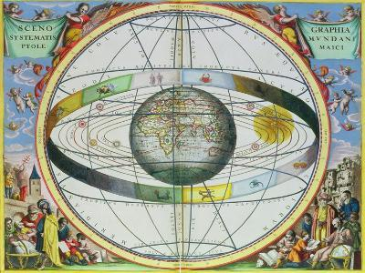"""Map of Christian Constellations, from """"The Celestial Atlas, or the Harmony of the Universe""""-Andreas Cellarius-Giclee Print"""