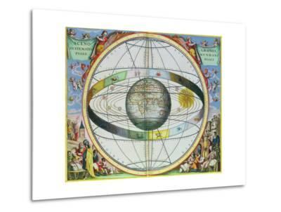"""Map of Christian Constellations, from """"The Celestial Atlas, or the Harmony of the Universe""""-Andreas Cellarius-Metal Print"""